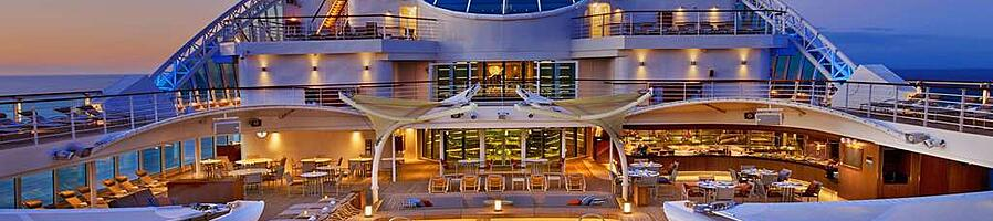 Top deck of Seabourn Ovation