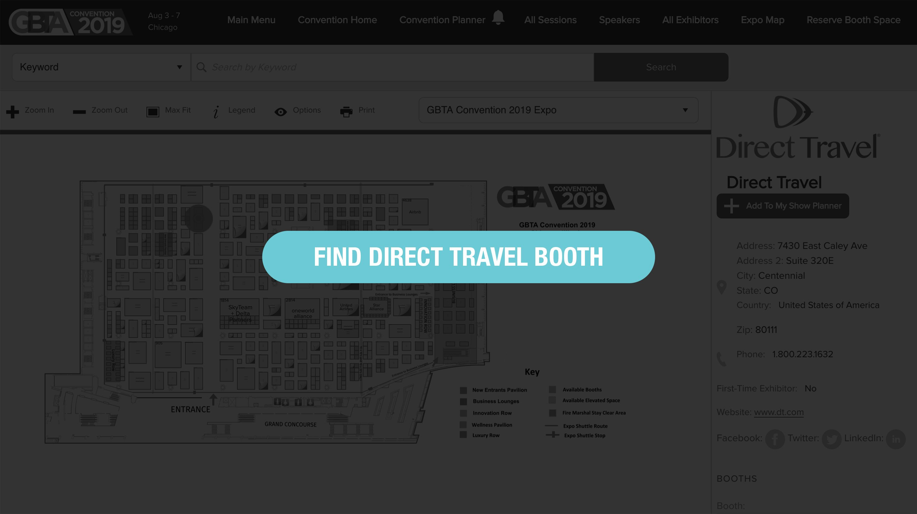 Find Direct Travel Booth